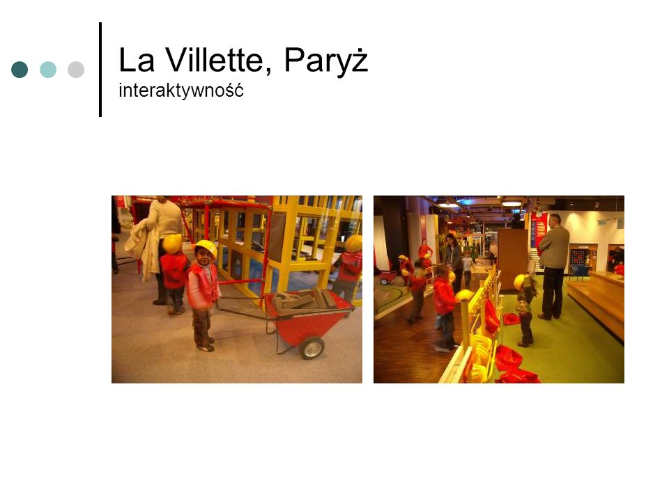 La Villette, Paryż interaktywność