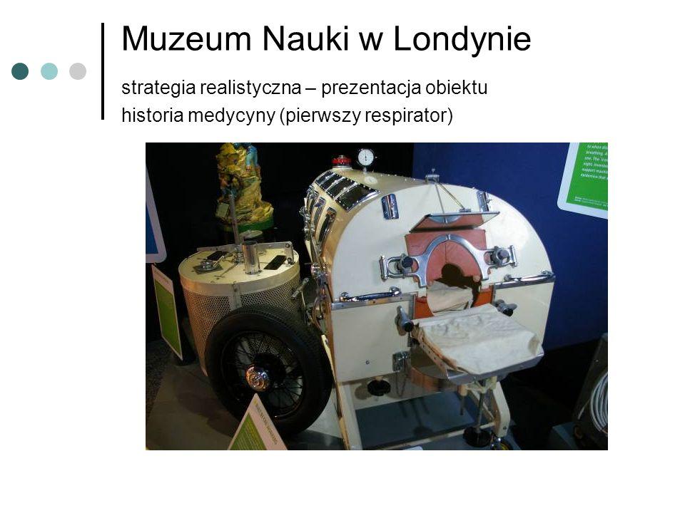Muzeum Nauki w Londynie strategia realistyczna – prezentacja obiektu historia medycyny (pierwszy respirator)
