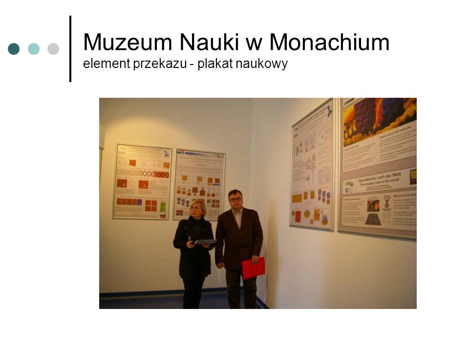 Muzeum Nauki w Monachium element przekazu - plakat naukowy