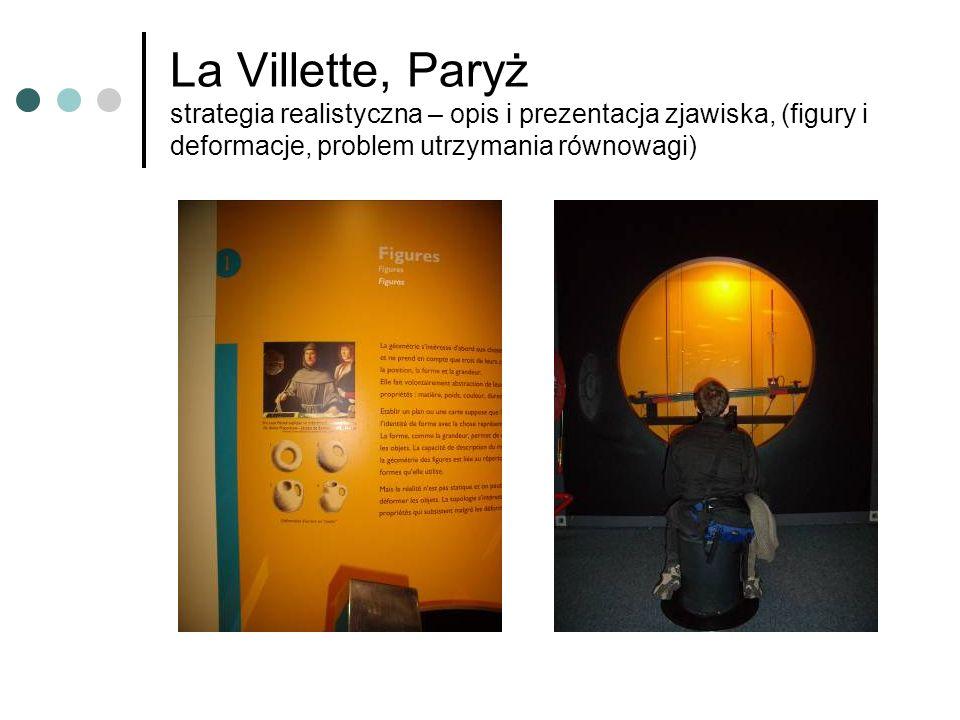 La Villette, Paryż strategia realistyczna – opis i prezentacja zjawiska, (figury i deformacje, problem utrzymania równowagi)