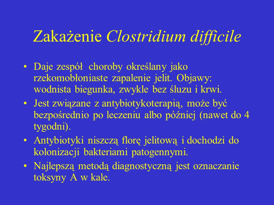 Zakażenie Clostridium difficile