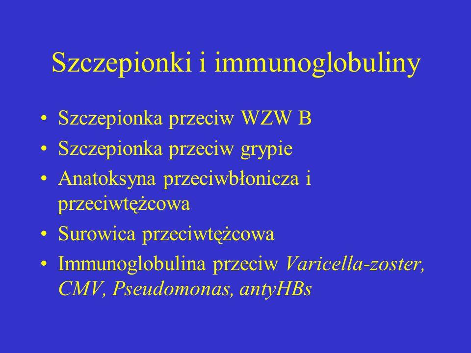 Szczepionki i immunoglobuliny