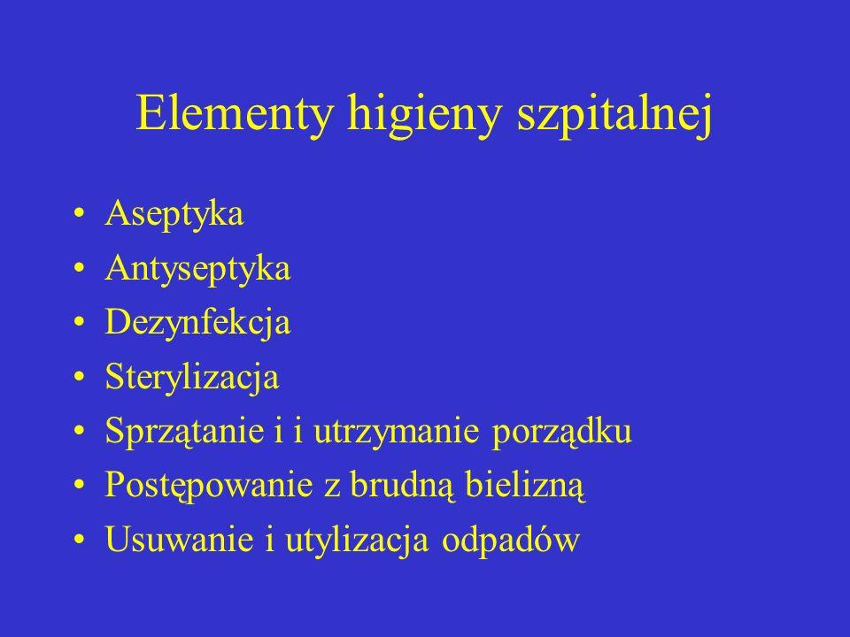 Elementy higieny szpitalnej