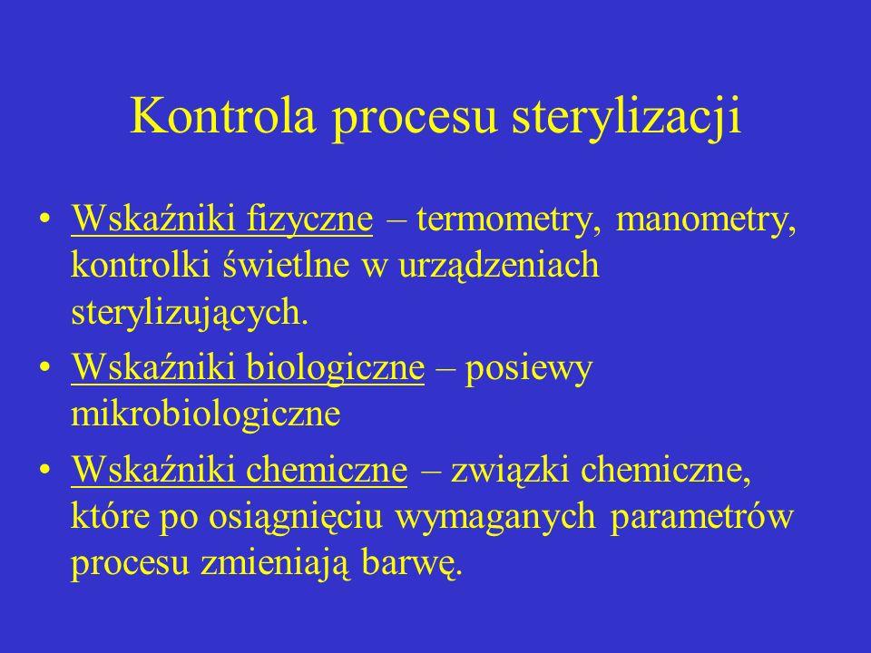 Kontrola procesu sterylizacji