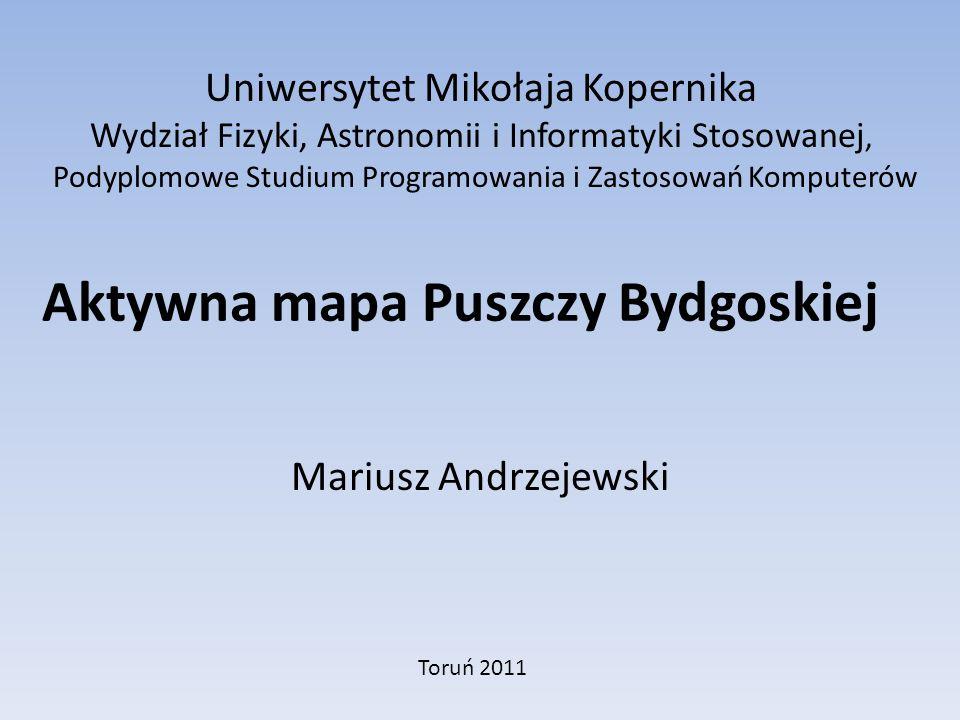 Aktywna mapa Puszczy Bydgoskiej