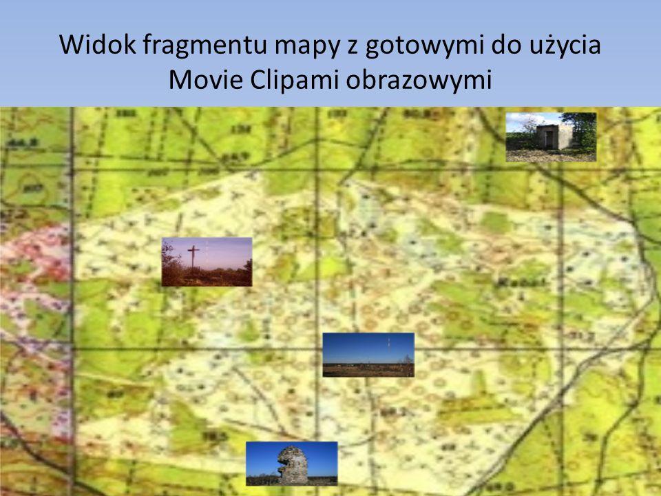 Widok fragmentu mapy z gotowymi do użycia Movie Clipami obrazowymi