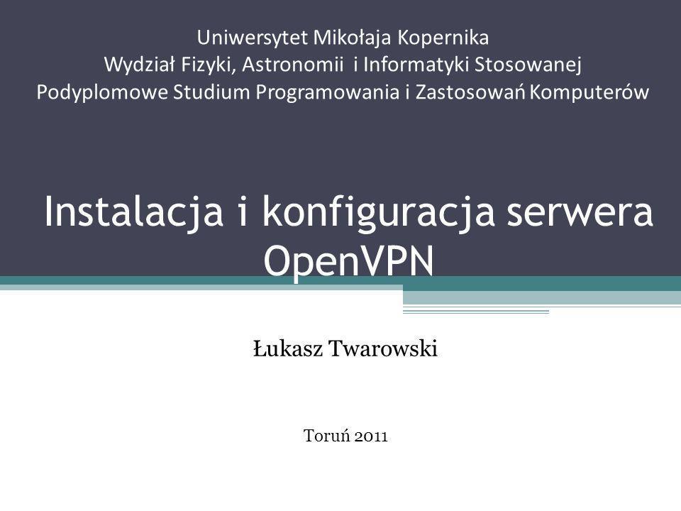 Instalacja i konfiguracja serwera OpenVPN