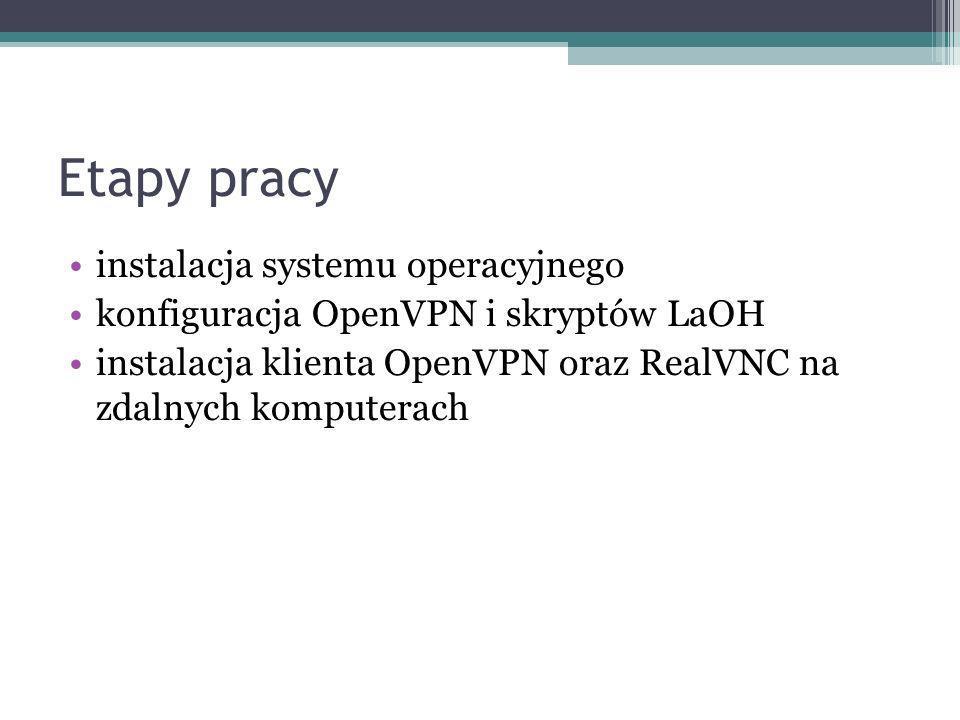 Etapy pracy instalacja systemu operacyjnego