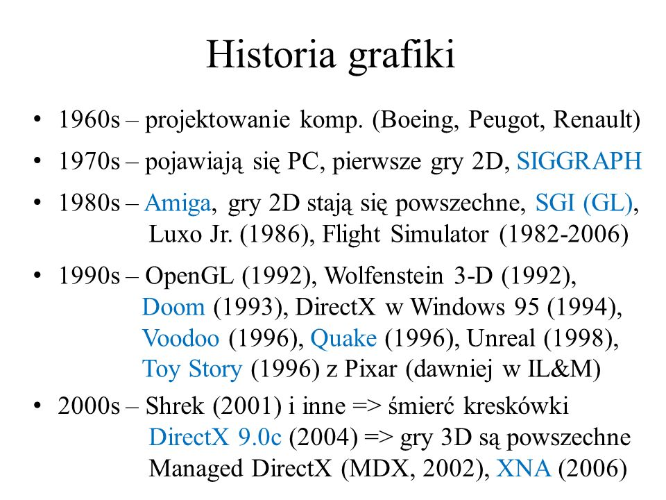Historia grafiki 1960s – projektowanie komp. (Boeing, Peugot, Renault)