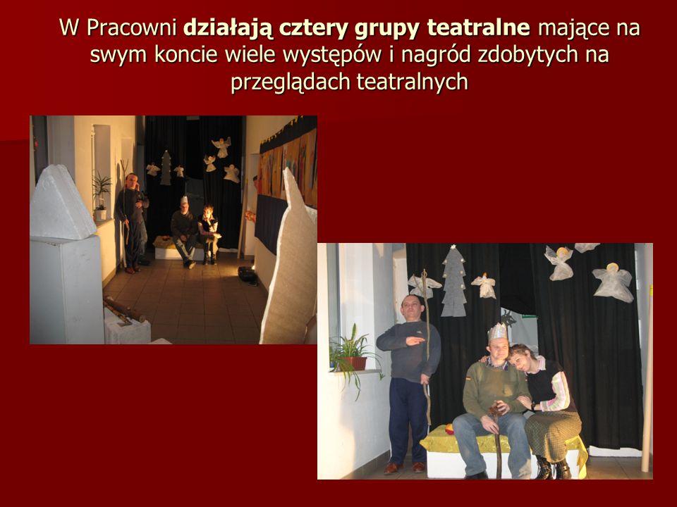 W Pracowni działają cztery grupy teatralne mające na swym koncie wiele występów i nagród zdobytych na przeglądach teatralnych