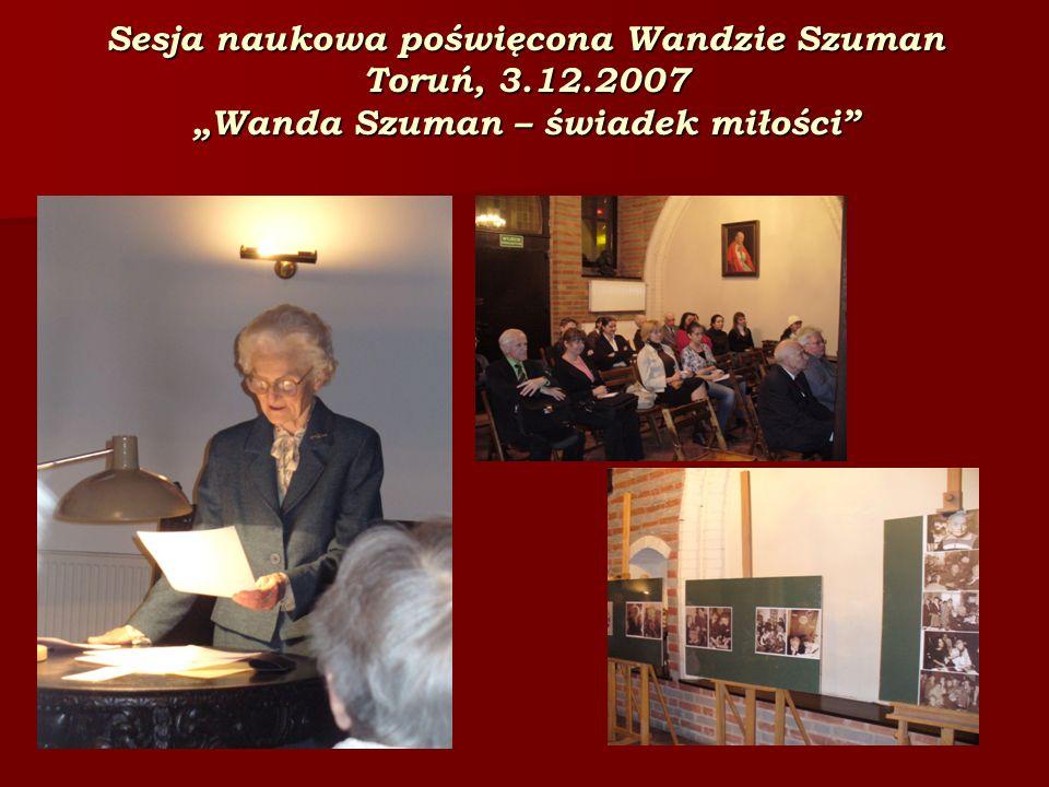 Sesja naukowa poświęcona Wandzie Szuman Toruń, 3. 12