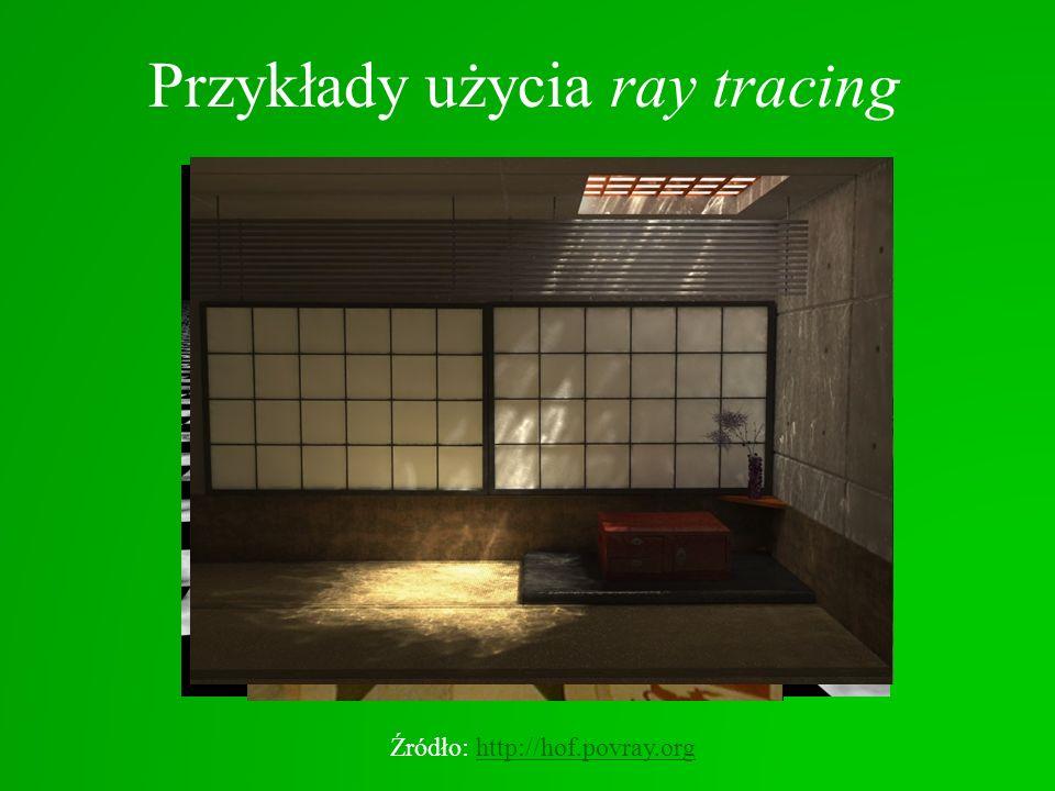 Przykłady użycia ray tracing