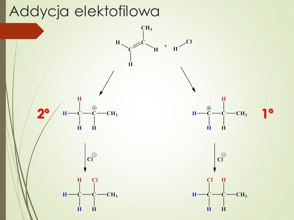 Addycja elektofilowa 2º 1º