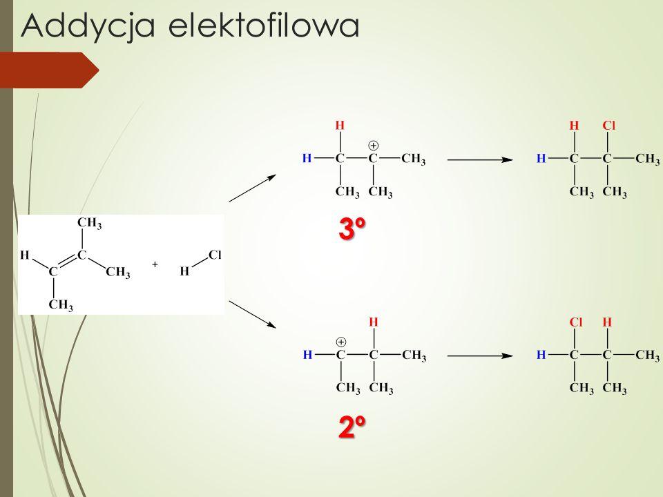 Addycja elektofilowa 3º 2º