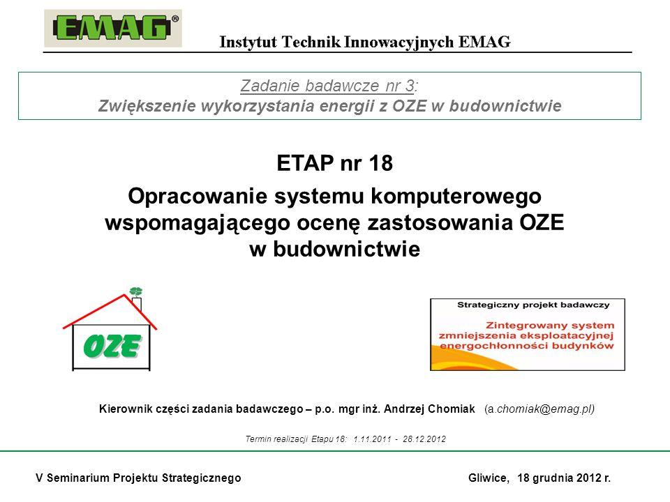Zwiększenie wykorzystania energii z OZE w budownictwie