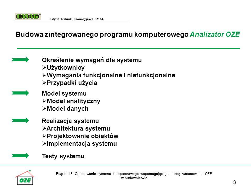 Budowa zintegrowanego programu komputerowego Analizator OZE