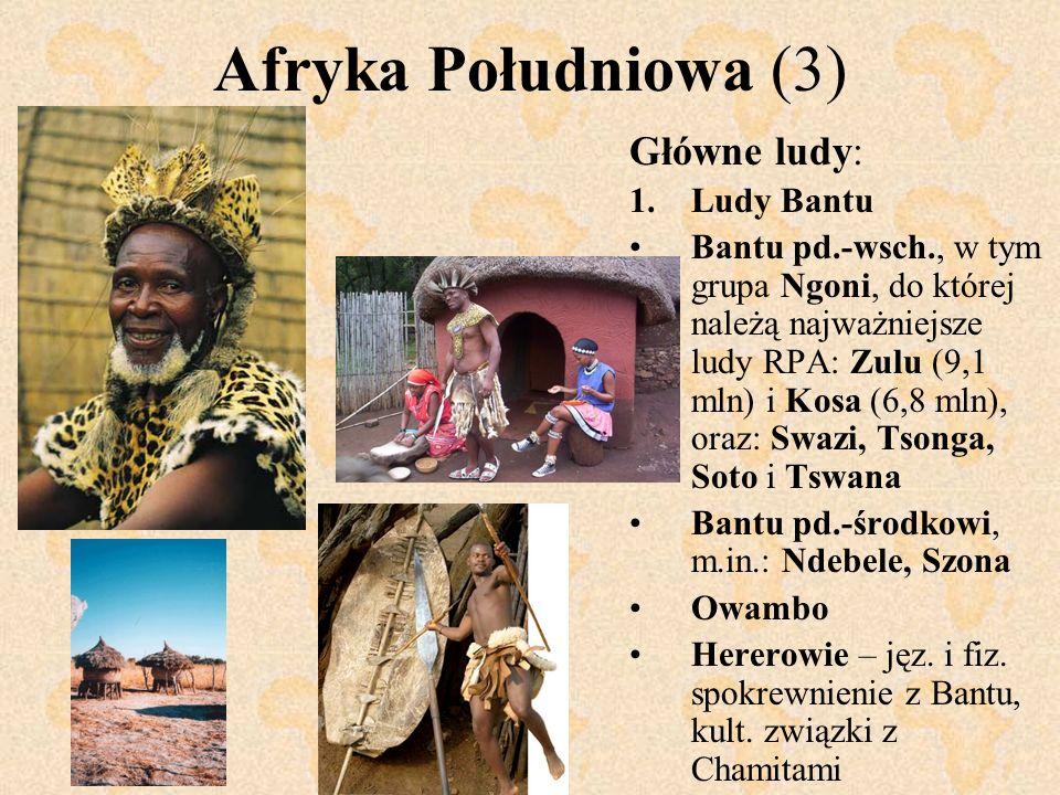 Afryka Południowa (3) Główne ludy: Ludy Bantu