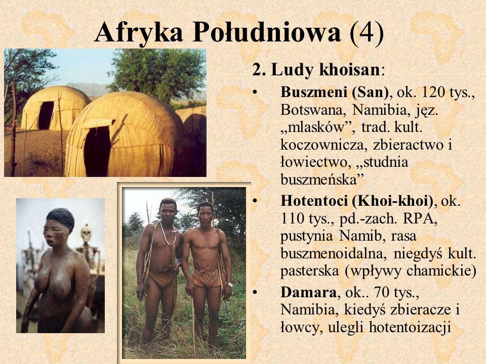 Afryka Południowa (4) 2. Ludy khoisan: