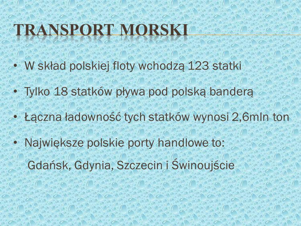 Transport morski W skład polskiej floty wchodzą 123 statki