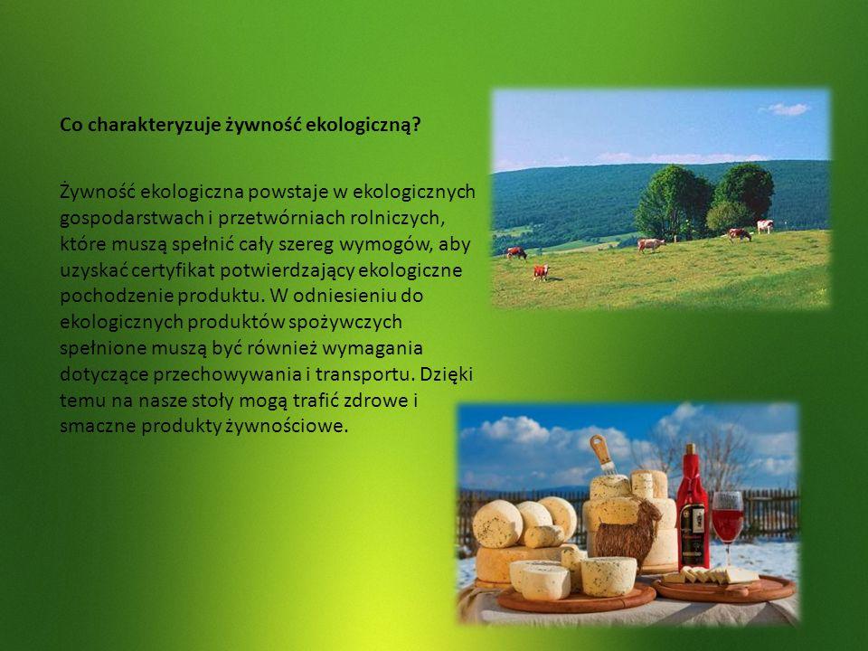 Co charakteryzuje żywność ekologiczną