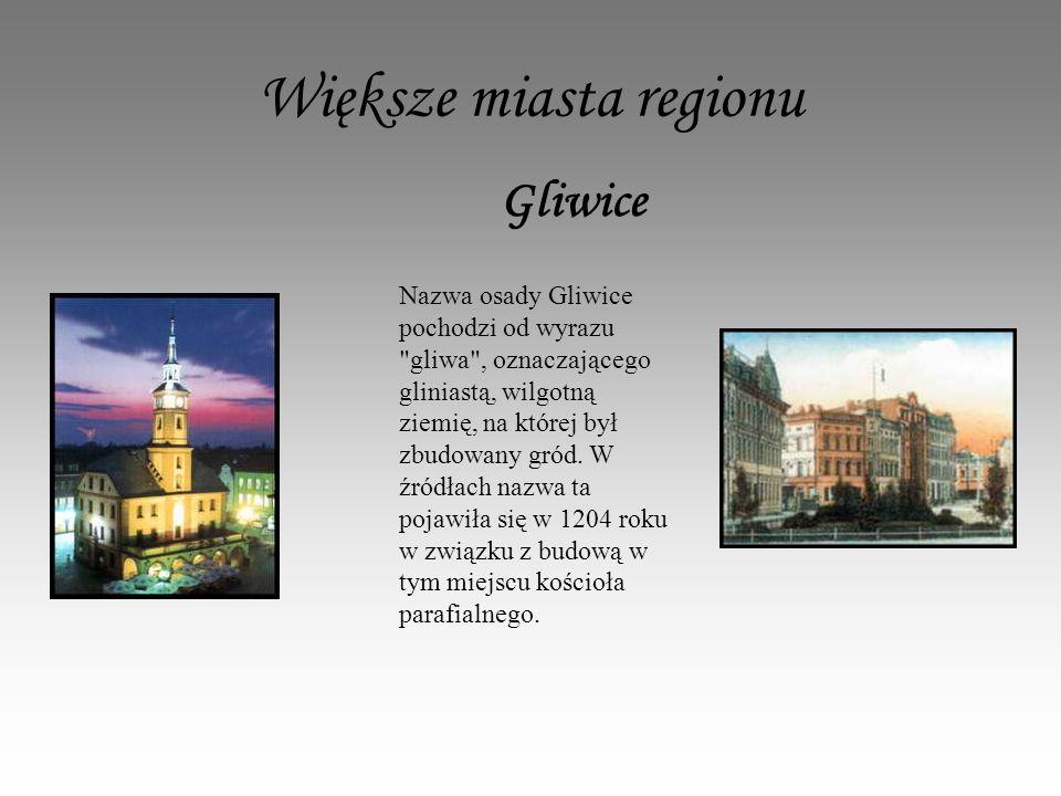 Większe miasta regionu