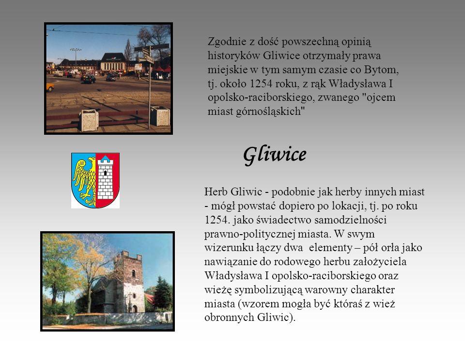 Zgodnie z dość powszechną opinią historyków Gliwice otrzymały prawa miejskie w tym samym czasie co Bytom, tj. około 1254 roku, z rąk Władysława I opolsko-raciborskiego, zwanego ojcem miast górnośląskich
