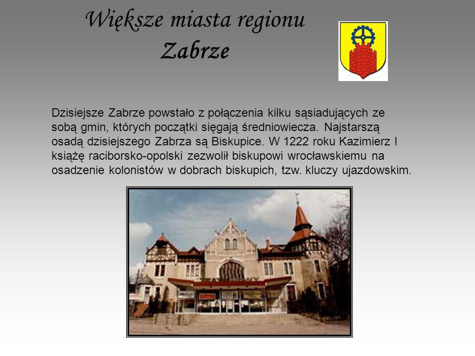 Większe miasta regionu Zabrze
