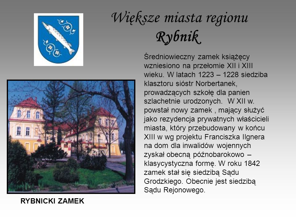Większe miasta regionu Rybnik