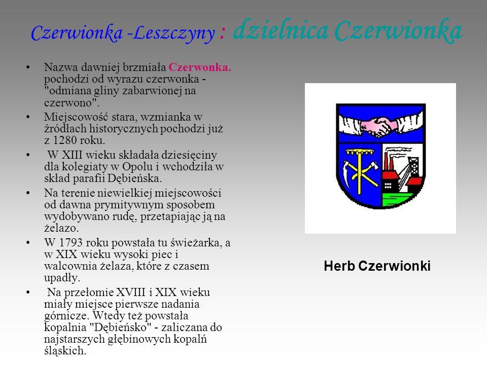 Czerwionka -Leszczyny : dzielnica Czerwionka