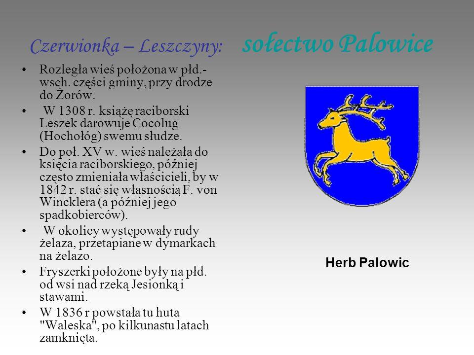 Czerwionka – Leszczyny: sołectwo Palowice