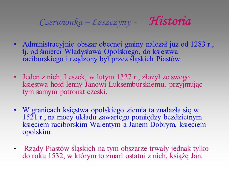 Czerwionka – Leszczyny - Historia