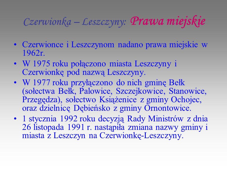 Czerwionka – Leszczyny: Prawa miejskie