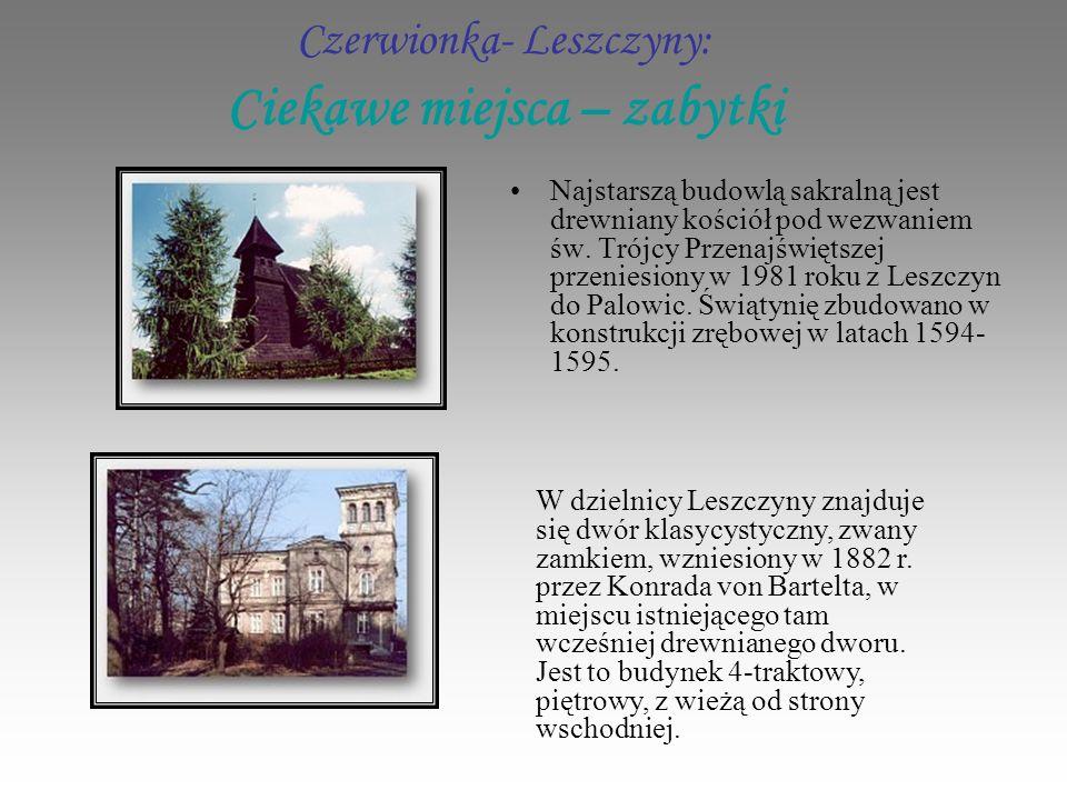 Czerwionka- Leszczyny: Ciekawe miejsca – zabytki