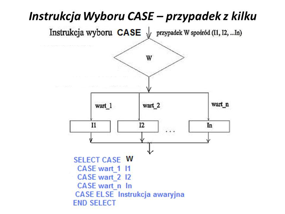 Instrukcja Wyboru CASE – przypadek z kilku