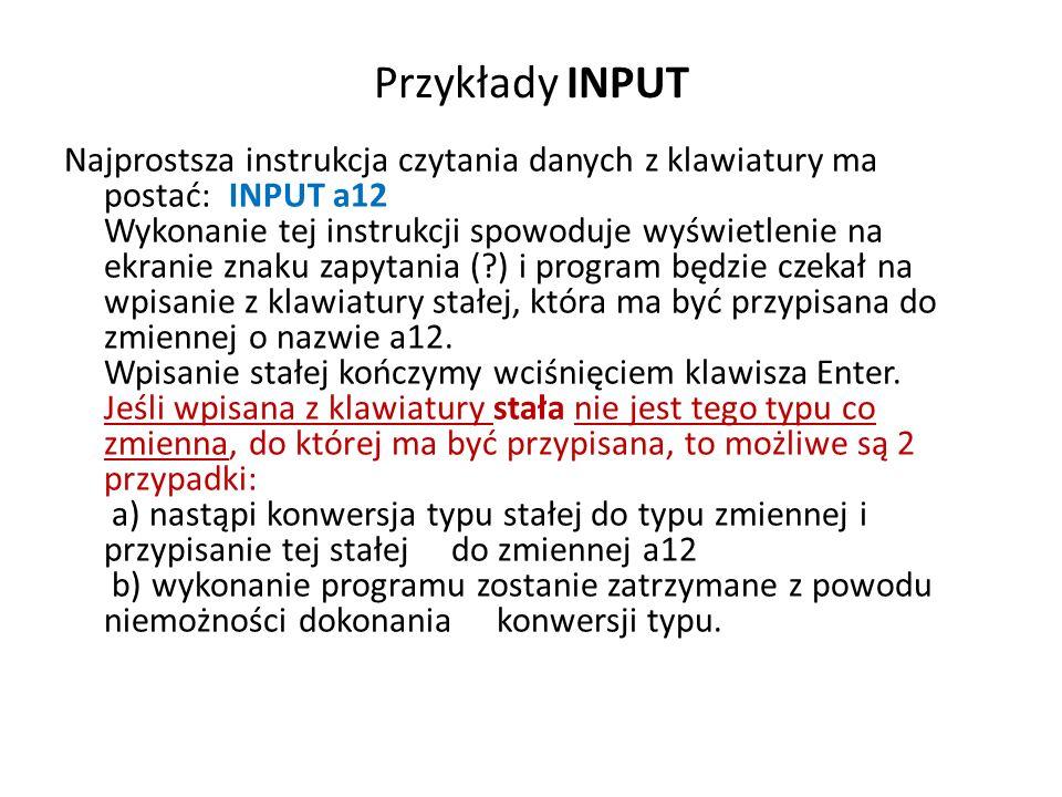 Przykłady INPUT