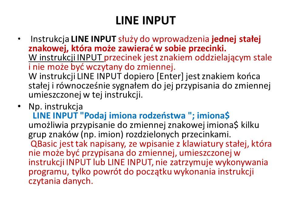 LINE INPUT