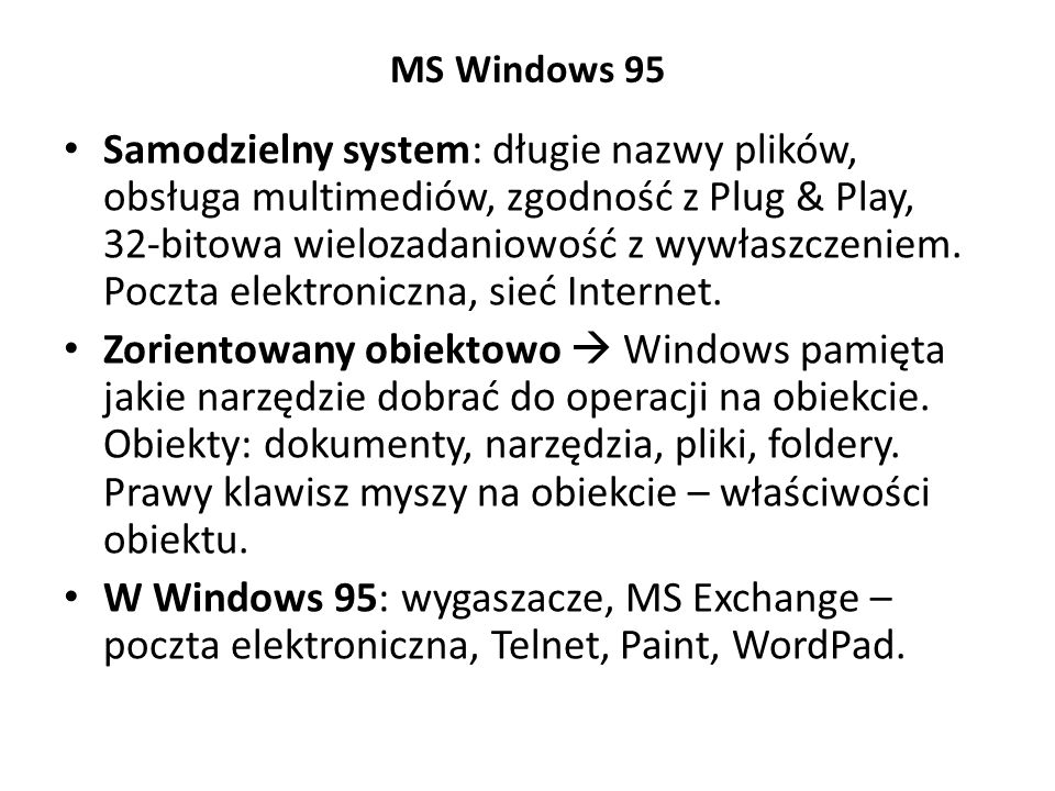 MS Windows 95