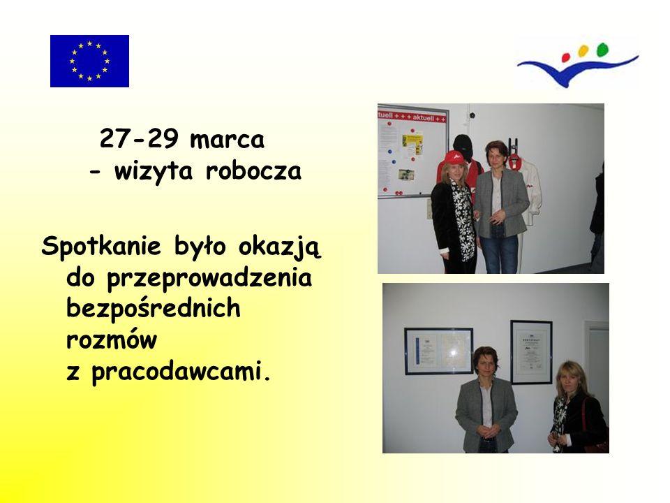 27-29 marca - wizyta robocza