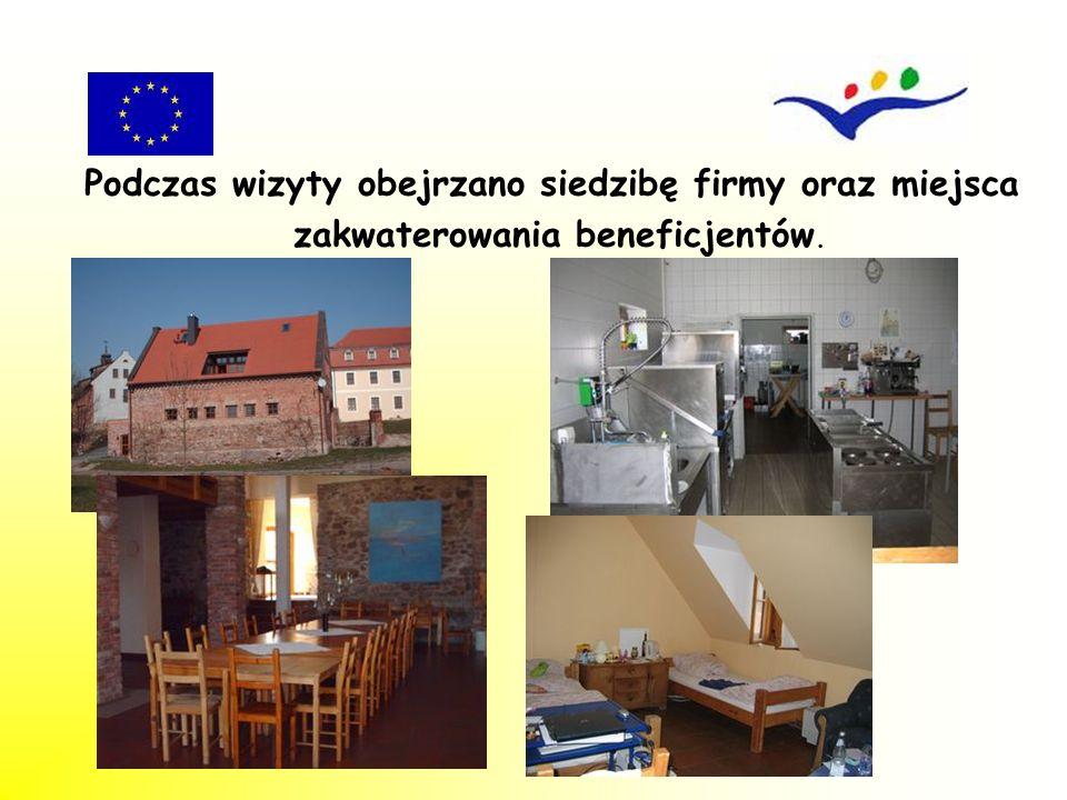 Podczas wizyty obejrzano siedzibę firmy oraz miejsca