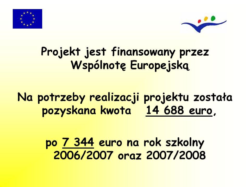 Projekt jest finansowany przez Wspólnotę Europejską