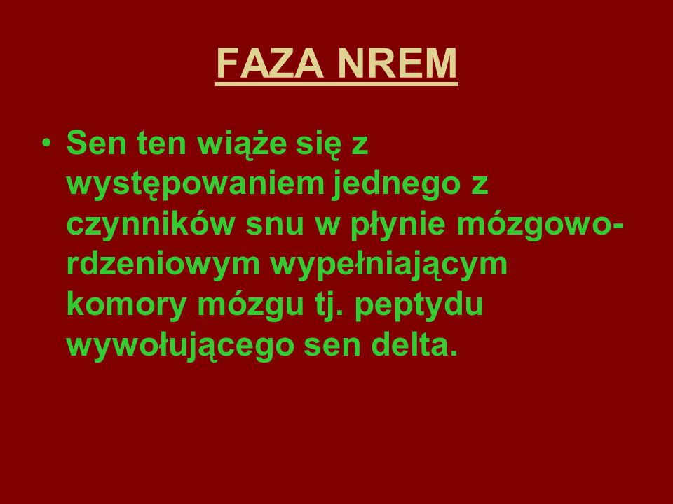 FAZA NREM
