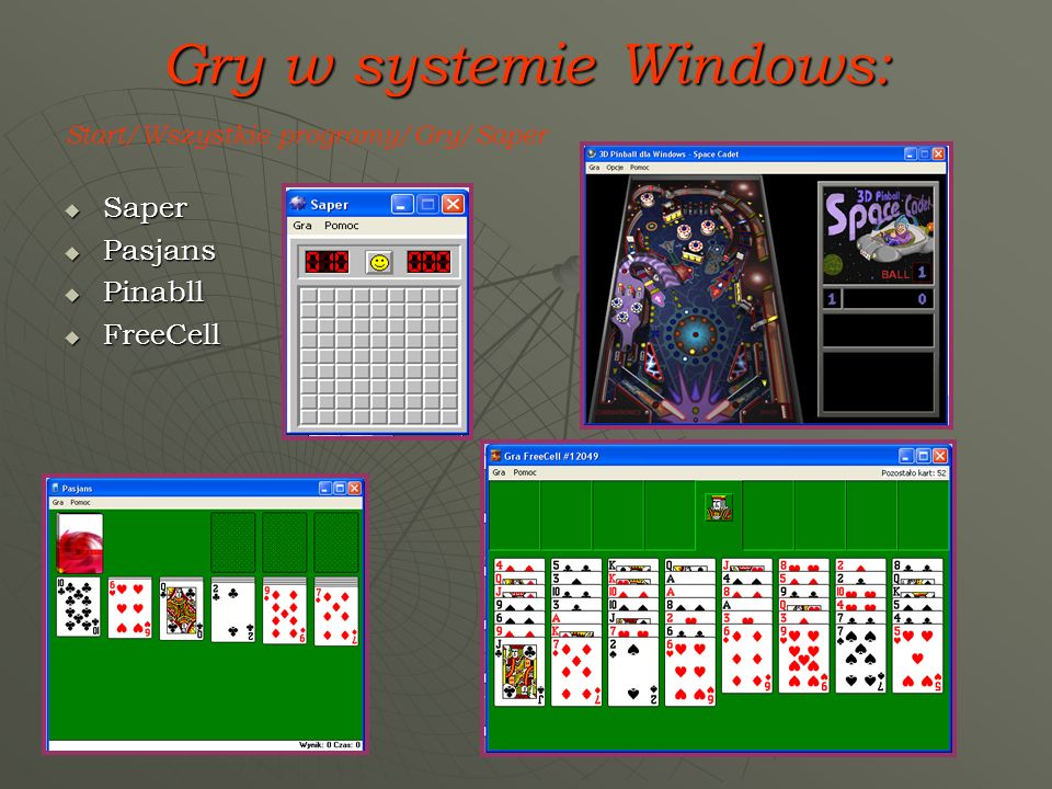 Gry w systemie Windows: