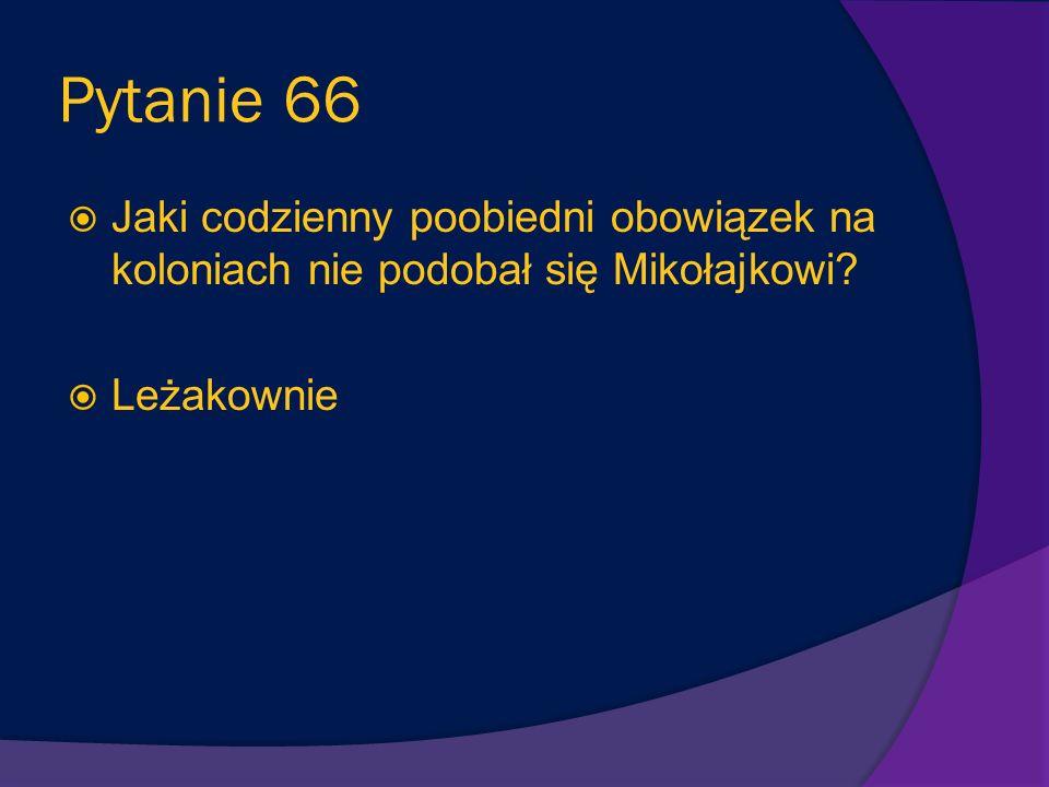 Pytanie 66 Jaki codzienny poobiedni obowiązek na koloniach nie podobał się Mikołajkowi Leżakownie