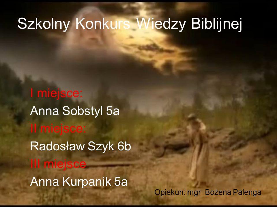 Szkolny Konkurs Wiedzy Biblijnej
