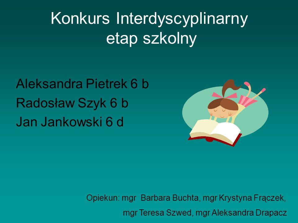 Konkurs Interdyscyplinarny etap szkolny