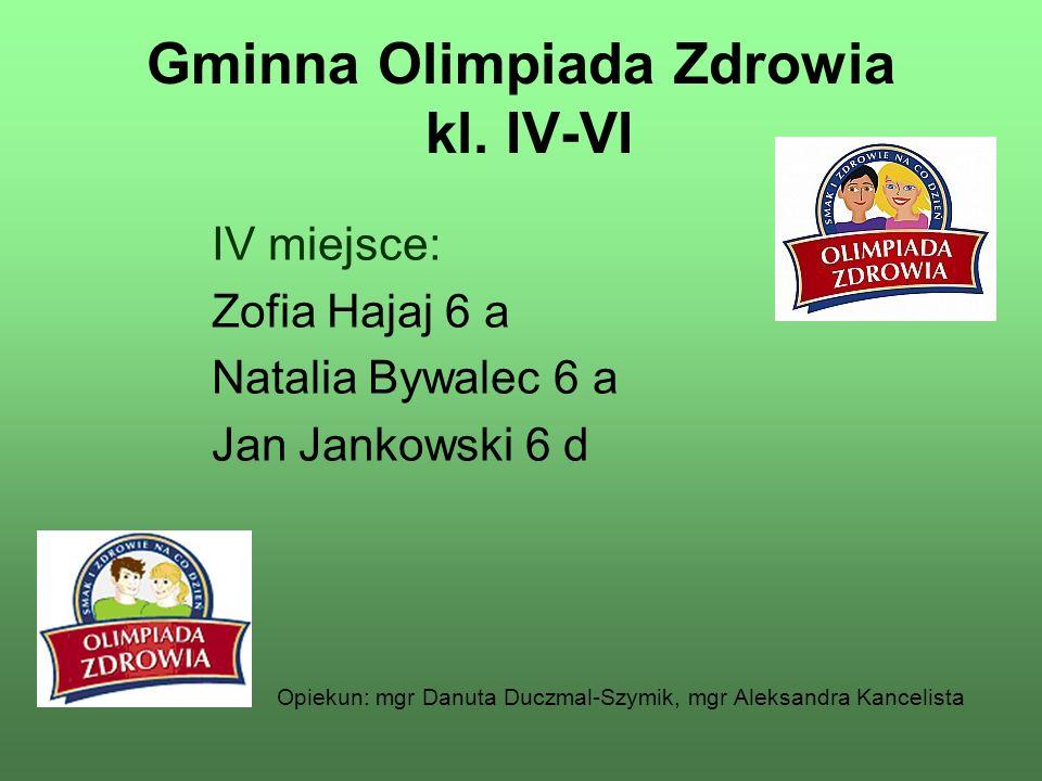 Gminna Olimpiada Zdrowia kl. IV-VI