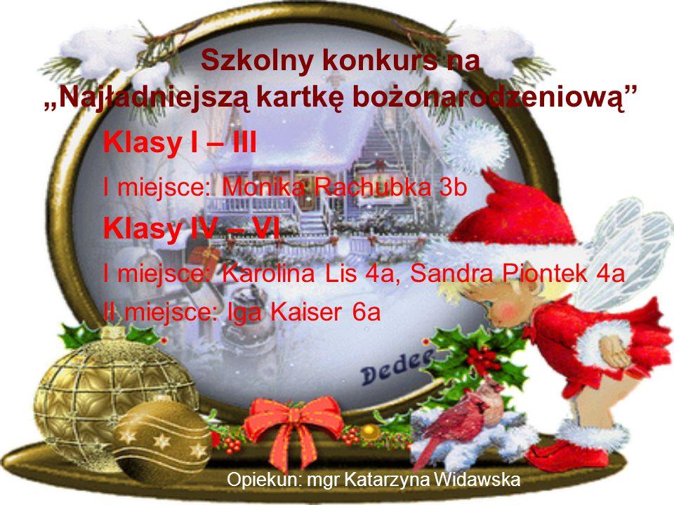 """Szkolny konkurs na """"Najładniejszą kartkę bożonarodzeniową"""