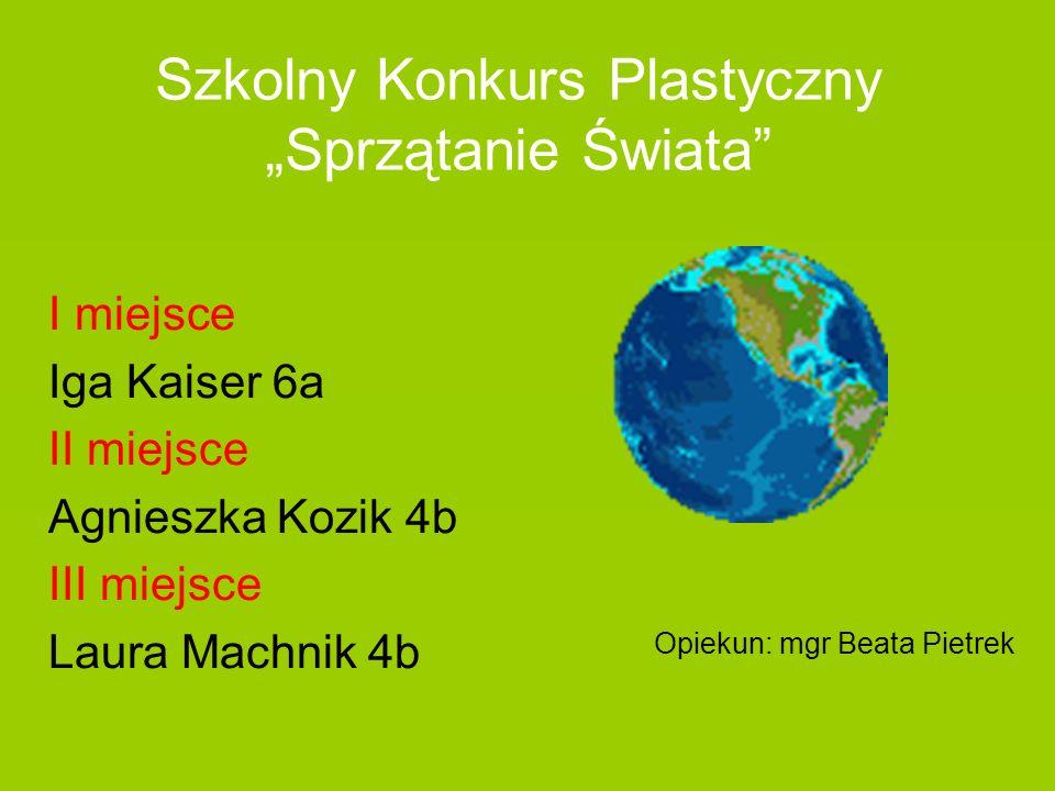 """Szkolny Konkurs Plastyczny """"Sprzątanie Świata"""