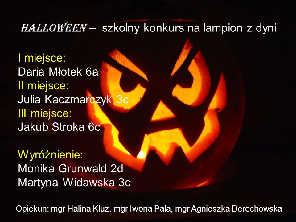 Halloween – szkolny konkurs na lampion z dyni