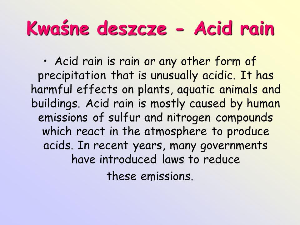 Kwaśne deszcze - Acid rain